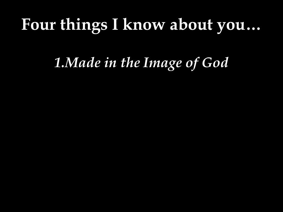 1.Made in the Image of God