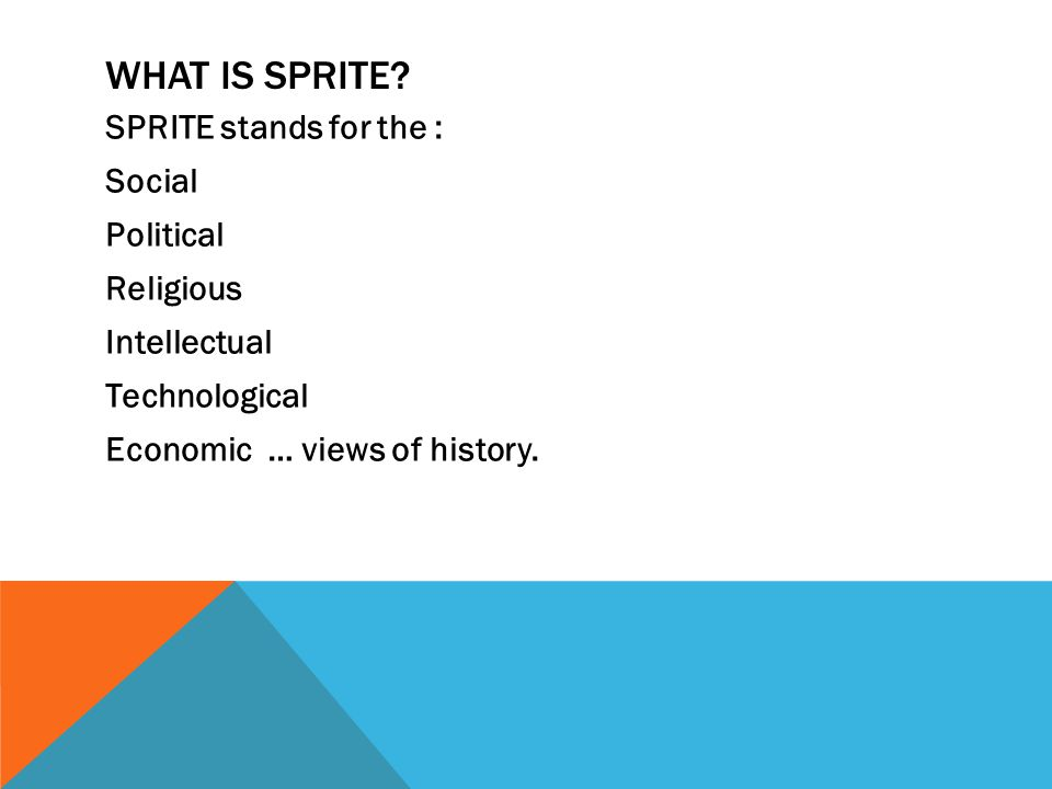 WHAT IS SPRITE.