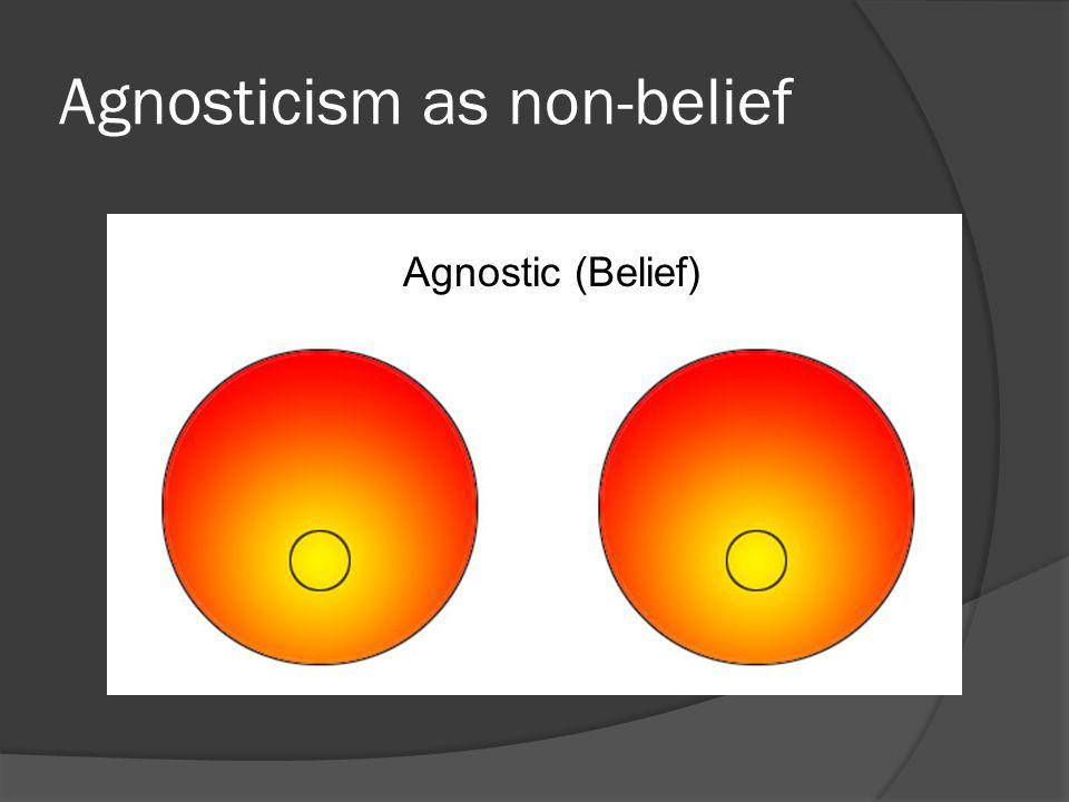 Agnosticism as non-belief Agnostic (Belief)