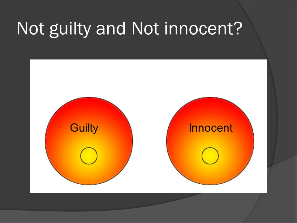 Not guilty and Not innocent? GuiltyInnocent