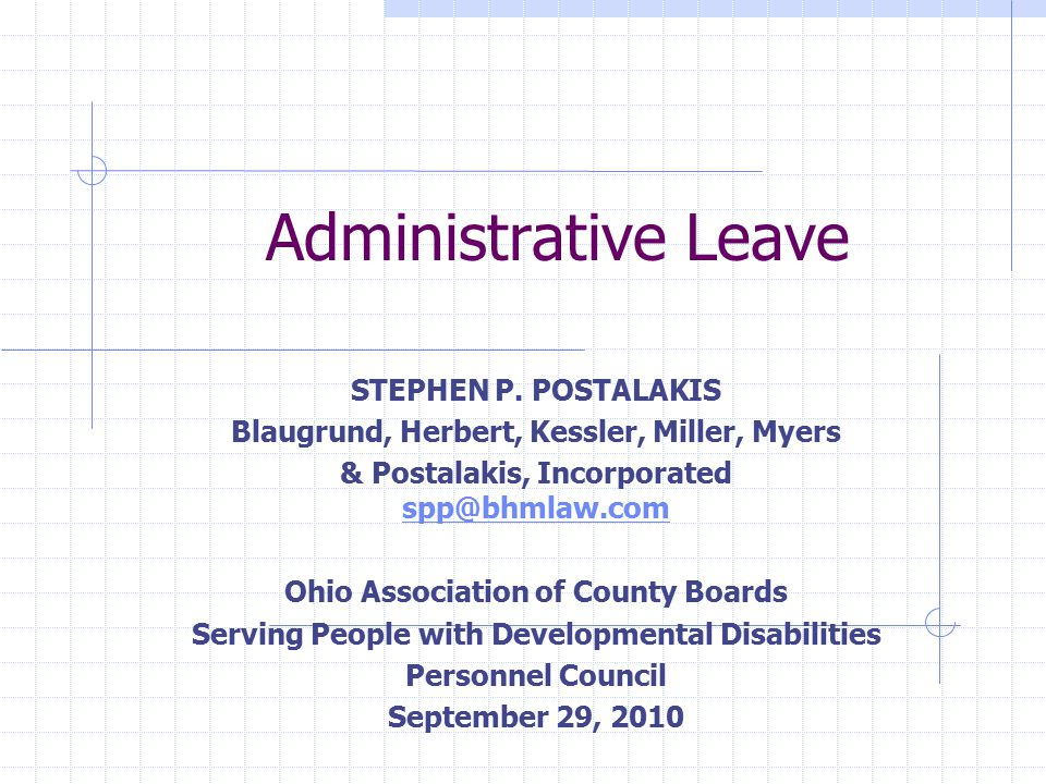 Administrative Leave STEPHEN P.