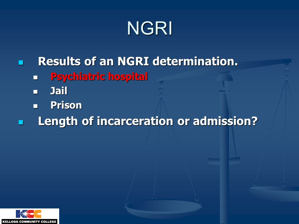 NGRI Results of an NGRI determination.Results of an NGRI determination.