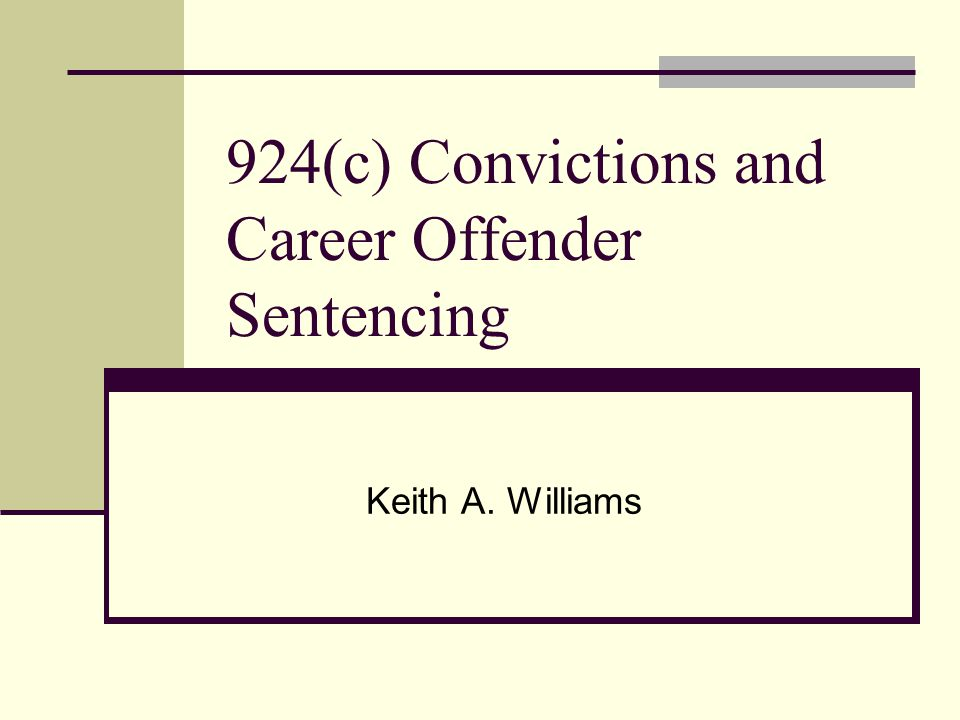 2K2.4(c) - if the defendant is convicted under 924(c) and he is a career offender, the guideline sentence shall be determined under 4B1.1(c) 4B1.1(c) - the applicable guideline range shall be determined as follows: