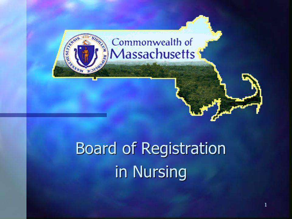1 Board of Registration in Nursing