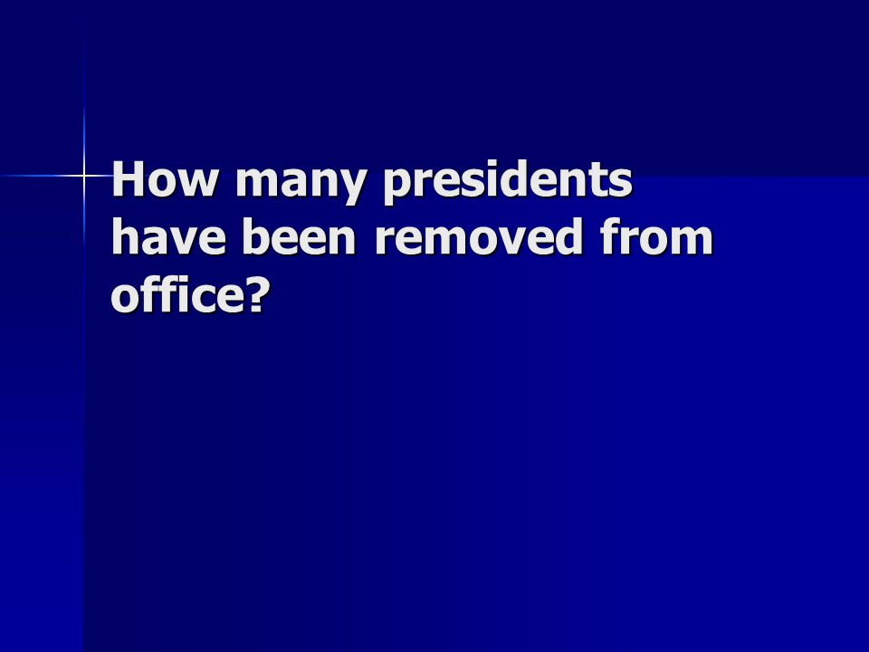 How many presidents have been removed from office?