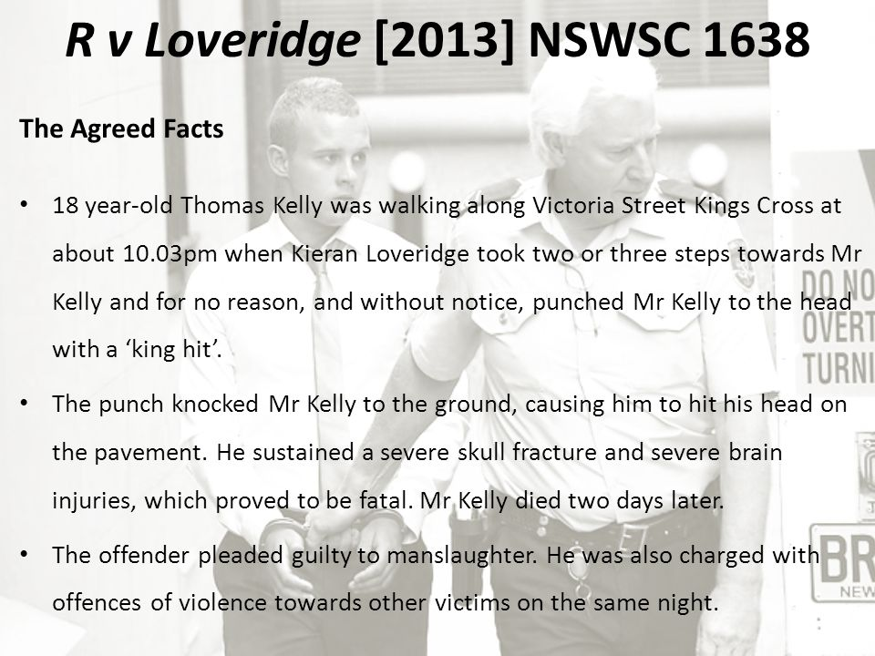 R v Wood [2014] NSWCCA 184 The Sentence The sentencing Judge determined that the respondent had a high level of moral culpability in relation to his conduct which was not diminished by the agreed fact that the respondent had consumed some unknown quantity of alcohol prior to the offence.