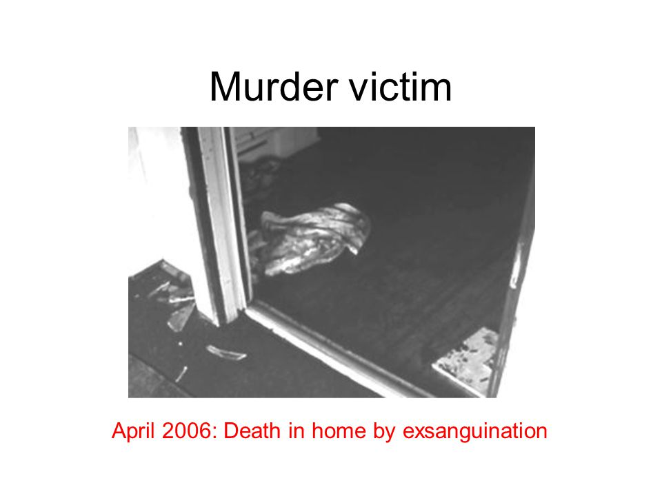 Murder victim April 2006: Death in home by exsanguination