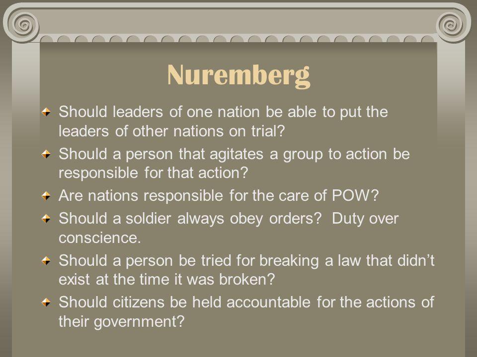 Nuremberg Trial 1945 Why Nuremberg.1.