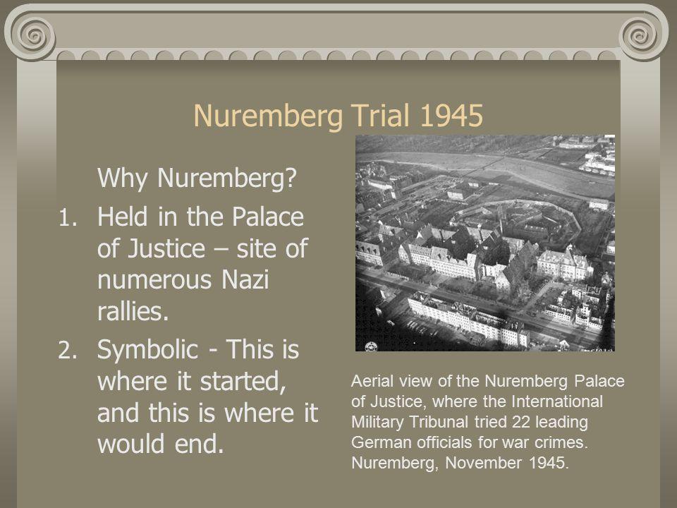 Nuremberg Trial 1945 Why Nuremberg. 1.