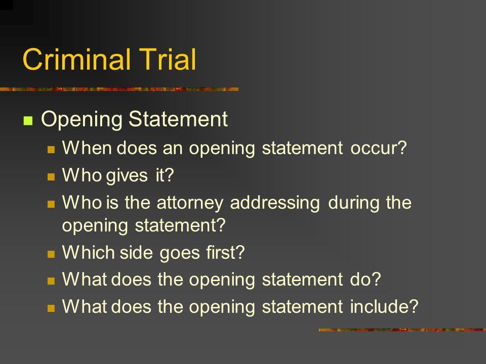 Criminal Trial Hearsay??.