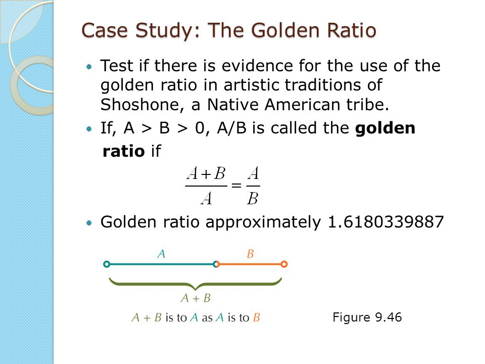Case Study: The Golden Ratio Test if there is evidence for the use of the golden ratio in artistic traditions of Shoshone, a Native American tribe. If