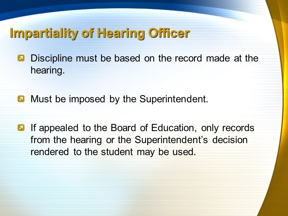 Discipline must be based on the record made at the hearing.