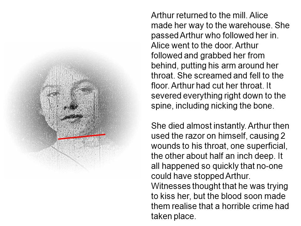Arthur returned to the mill.Alice made her way to the warehouse.