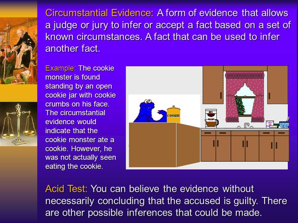 Forms of Evidence real evidence real evidence circumstantial evidence circumstantial evidence direct evidence direct evidence demonstrative evidence d