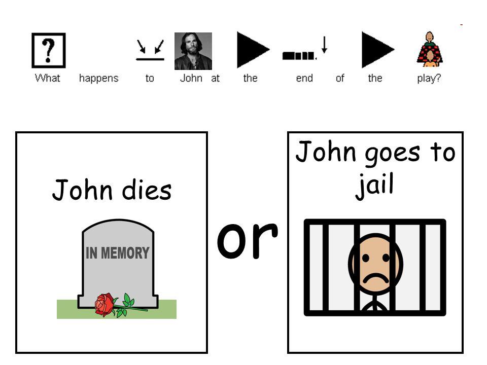 John dies John goes to jail or
