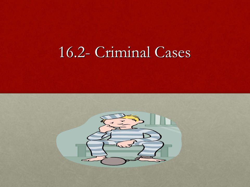 16.2- Criminal Cases