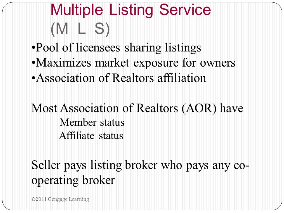 Review Quiz Chapter Four 2.A broker has an agency agreement to represent just the buyer.