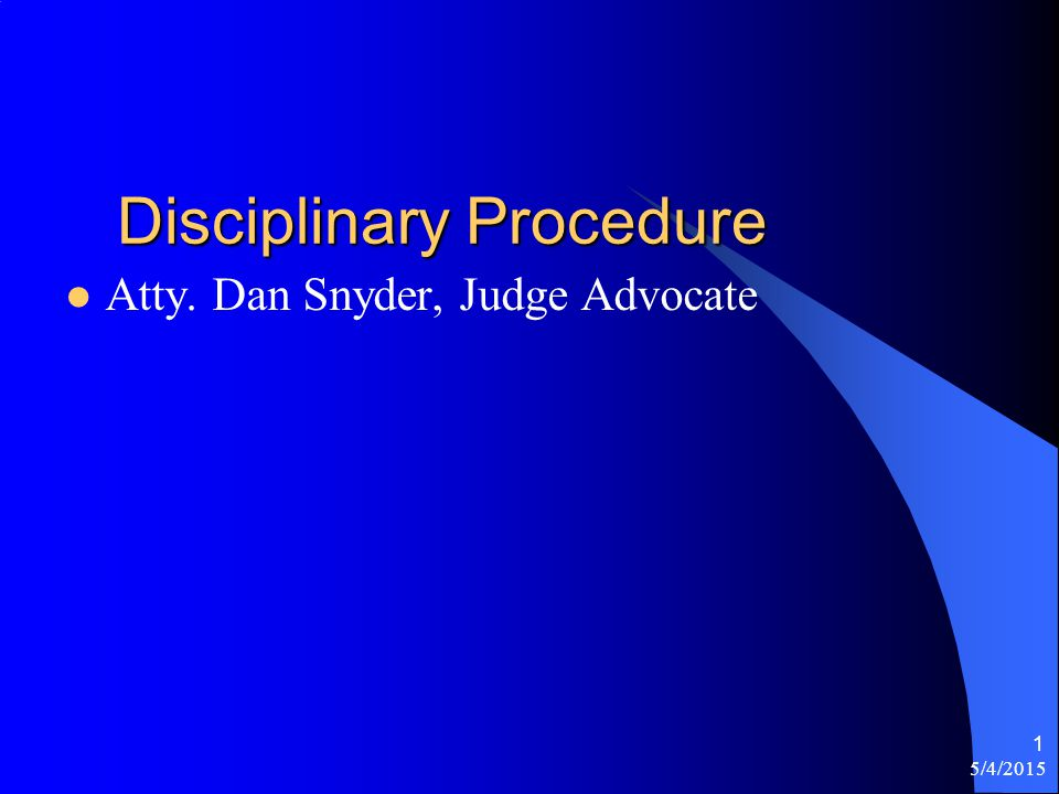 2 Introduction Disciplinary Procedures for Post Club room infractions How to conduct a proper Hearing/Trial Provide for a quality post for members and their families