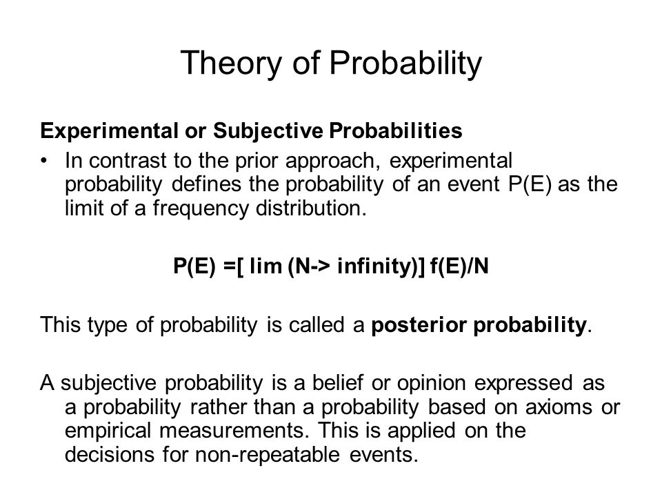 Theory of Probability Event A={2, 4, 6} Event B ={3, 6} Compound Probabilities What is the probability of rolling a die with an outcome of even number divisible by 3.