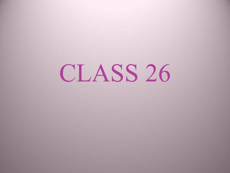 CLASS 26