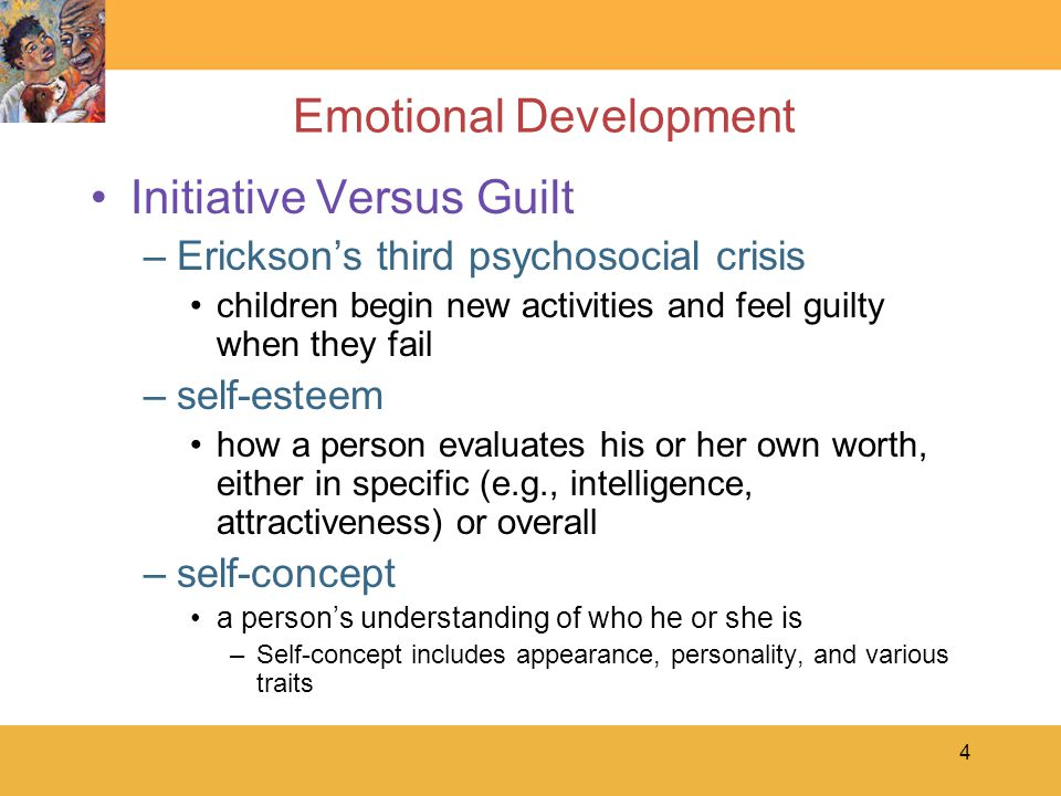 15 Emotional Development Aggression –instrumental aggression hurtful behavior that is intended to get or keep something that another person has –reactive aggression an impulsive retaliaton for another person's intentional or accidental actions, verbal or physical –bullying aggression unprovoked, repeated physical or verbal attack, especially on victims who are unlikely to defend themselves