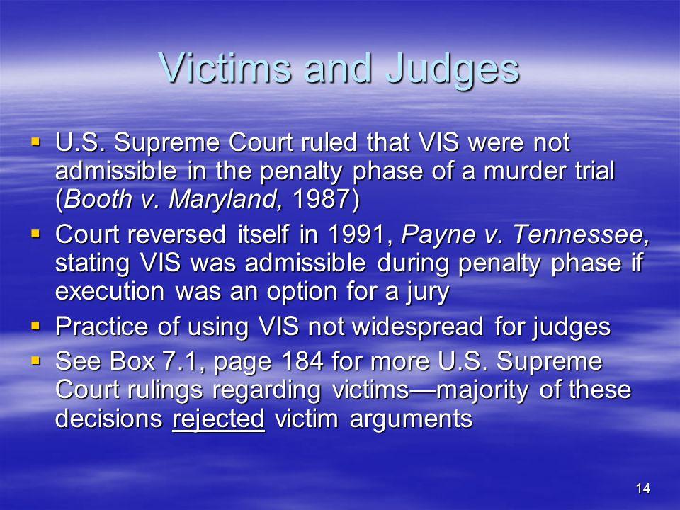 14 Victims and Judges  U.S.