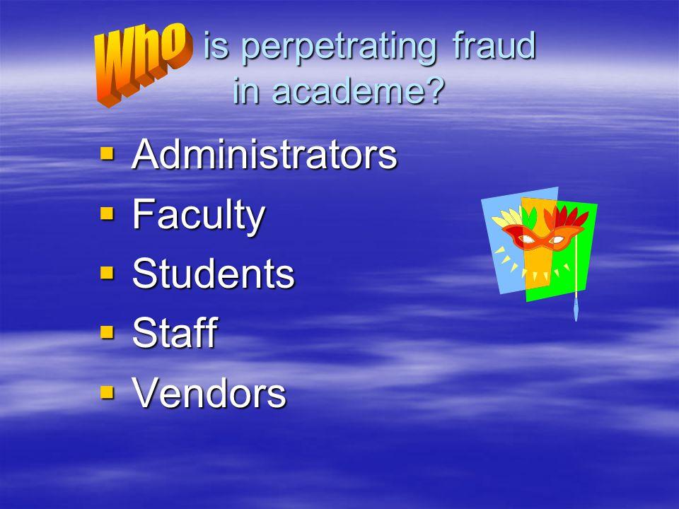 is perpetrating fraud in academe. is perpetrating fraud in academe.