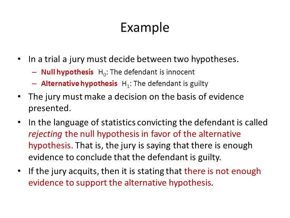 Hypothesis Test 4: Student's t-test The test statistic (x bar) follows a Student's T-distribution if the null hypothesis is true.