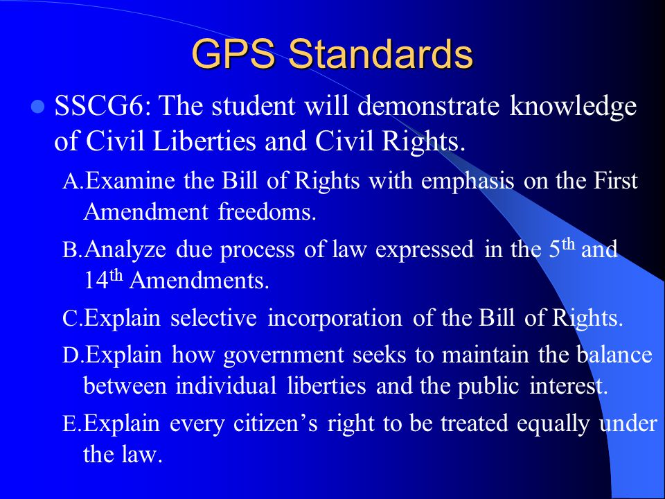 Constitutional Rights Chapters 13,14, &15