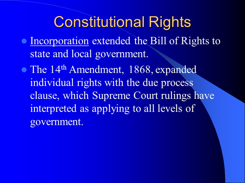 Constitutional Rights The fundamental freedoms that all Americans have are called human rights. These rights are guaranteed to all Americans in the Co