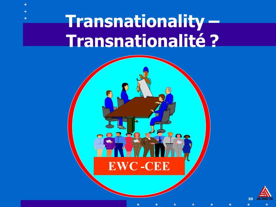 10 Transnationality – Transnationalité ? EWC -CEE