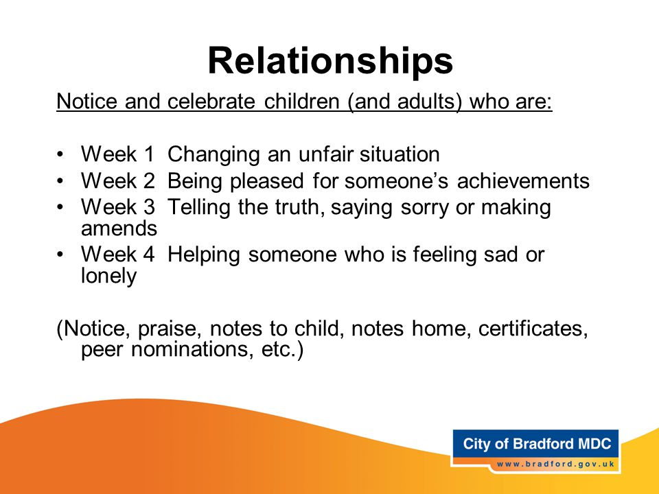 Relationships The theme is structured around the following key strands: Knowing myself Understanding my feelings Managing my feelings Understanding the feelings of others