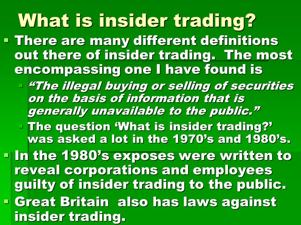 Why the interest in large corporations.