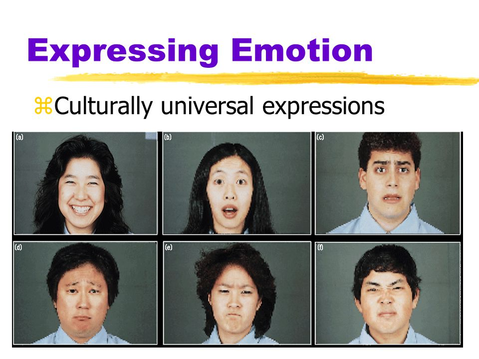 Expressing Emotion Smiles can show different emotions: A) Mask anger B) Overly polite C) Soften criticism D) Reluctant compliance