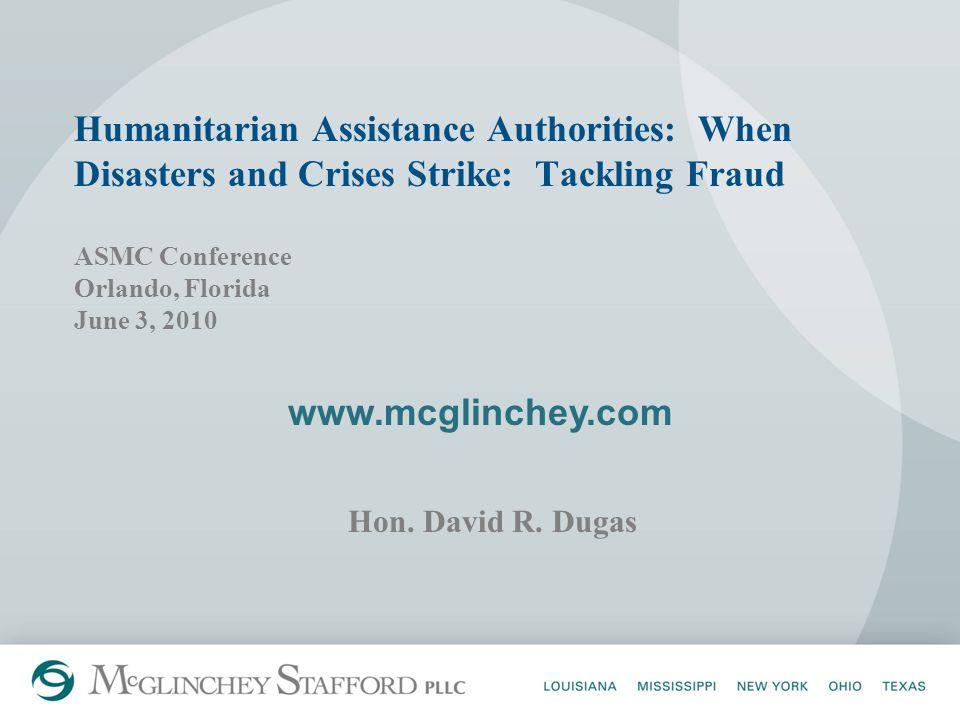 www.mcglinchey.com Hon. David R.