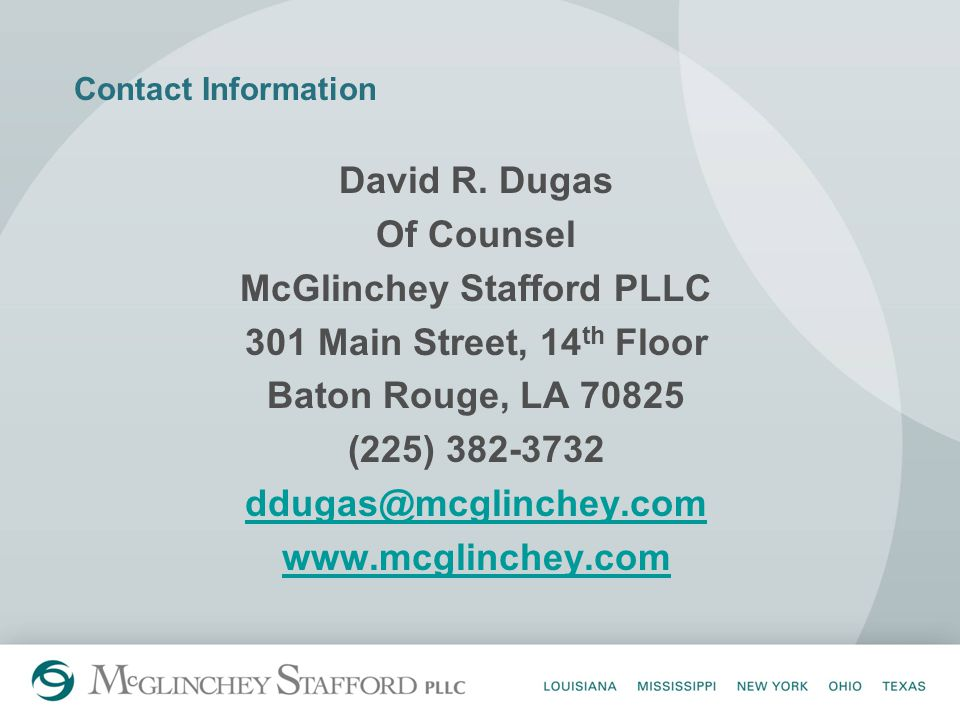 Contact Information David R.