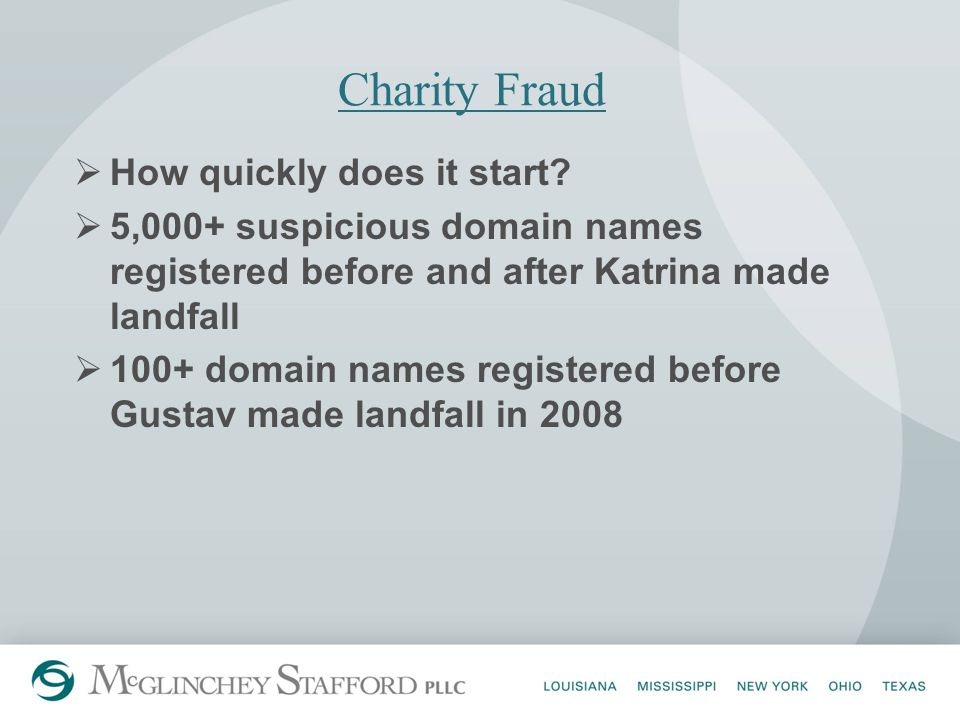 Charity Fraud  How quickly does it start.