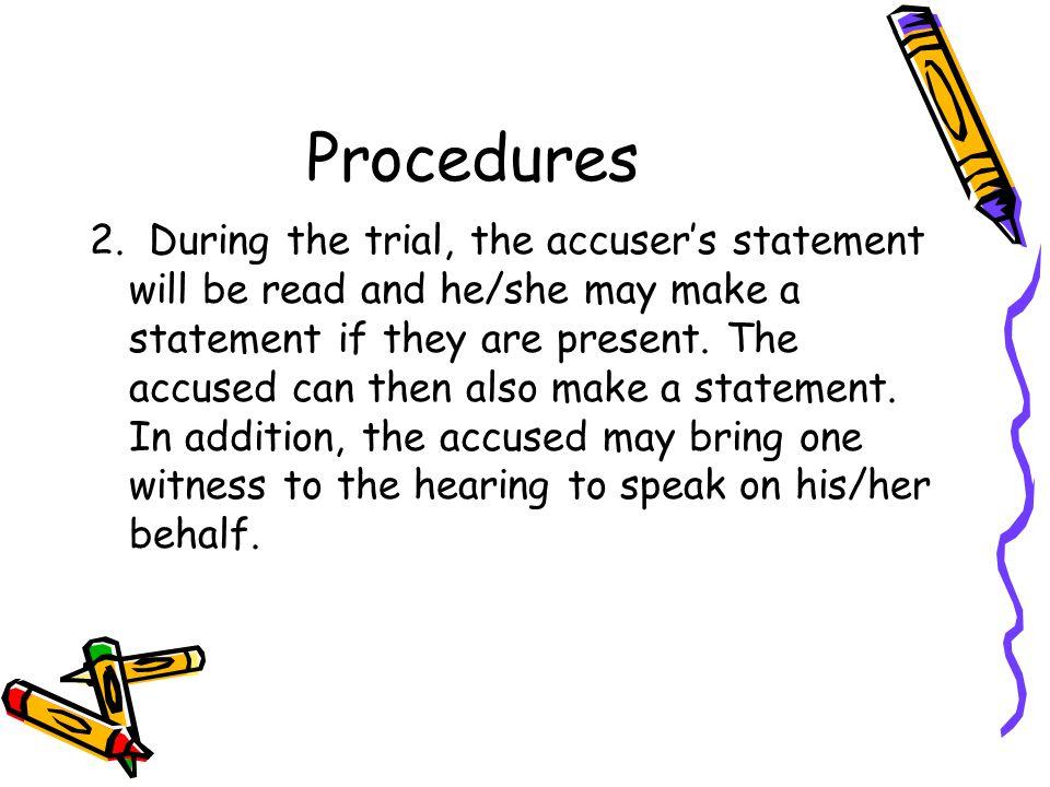 Procedures 2.