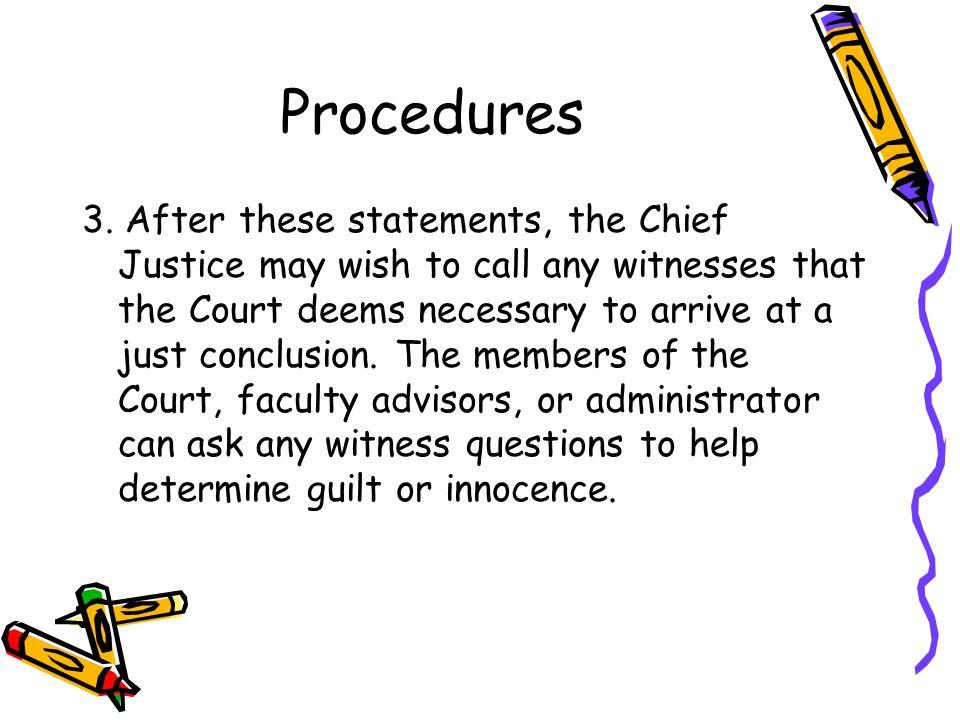 Procedures 3.