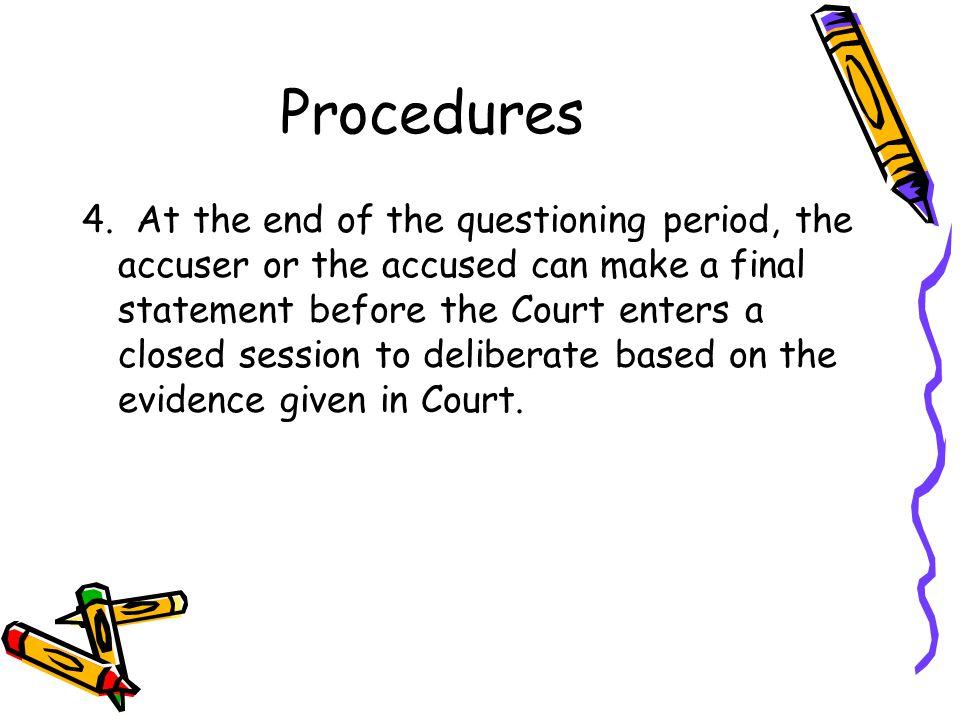 Procedures 4.