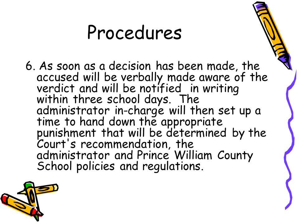 Procedures 6.