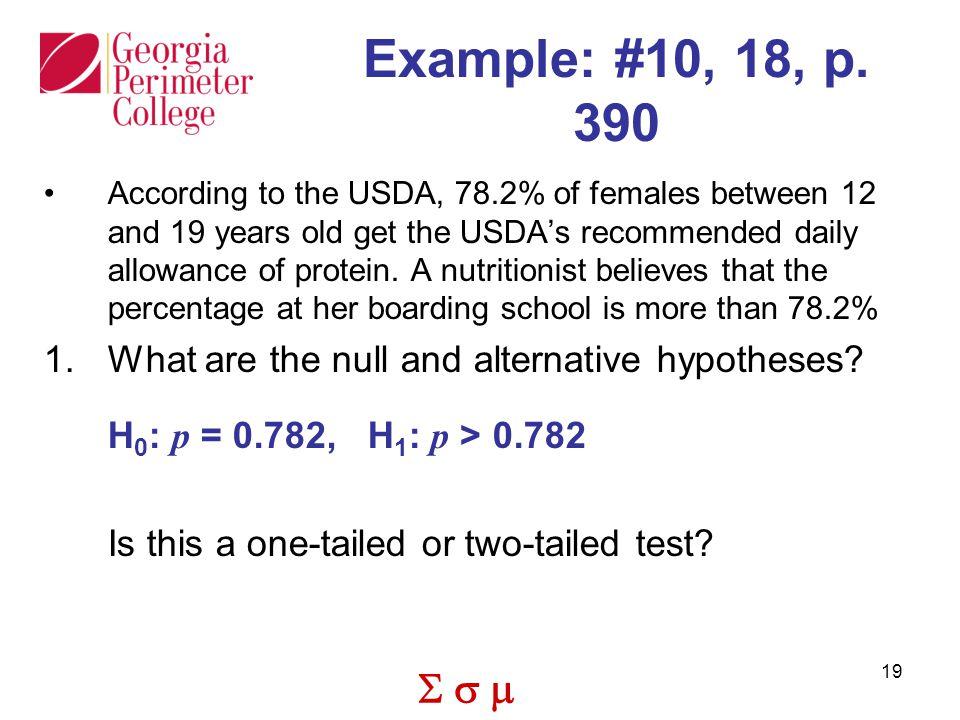  19 Example: #10, 18, p.