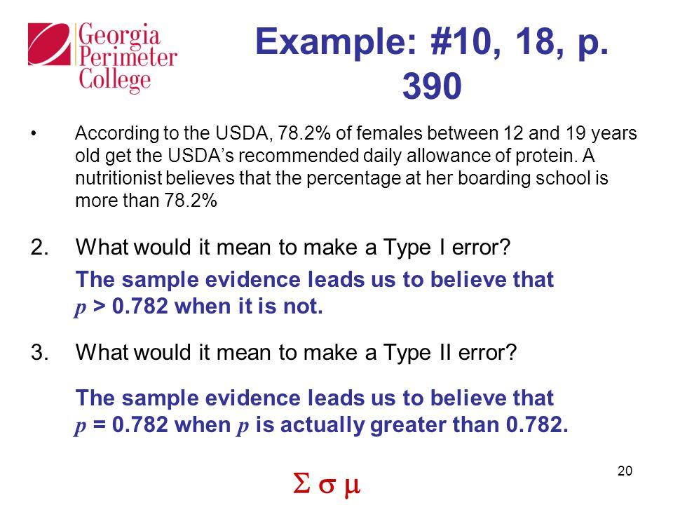  20 Example: #10, 18, p.