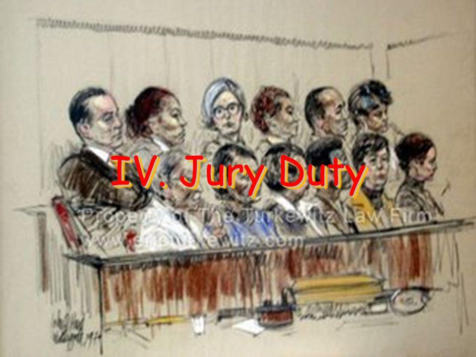 IV. Jury Duty