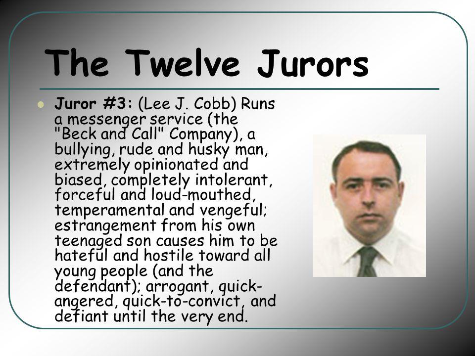 The Twelve Jurors Juror #3: (Lee J.
