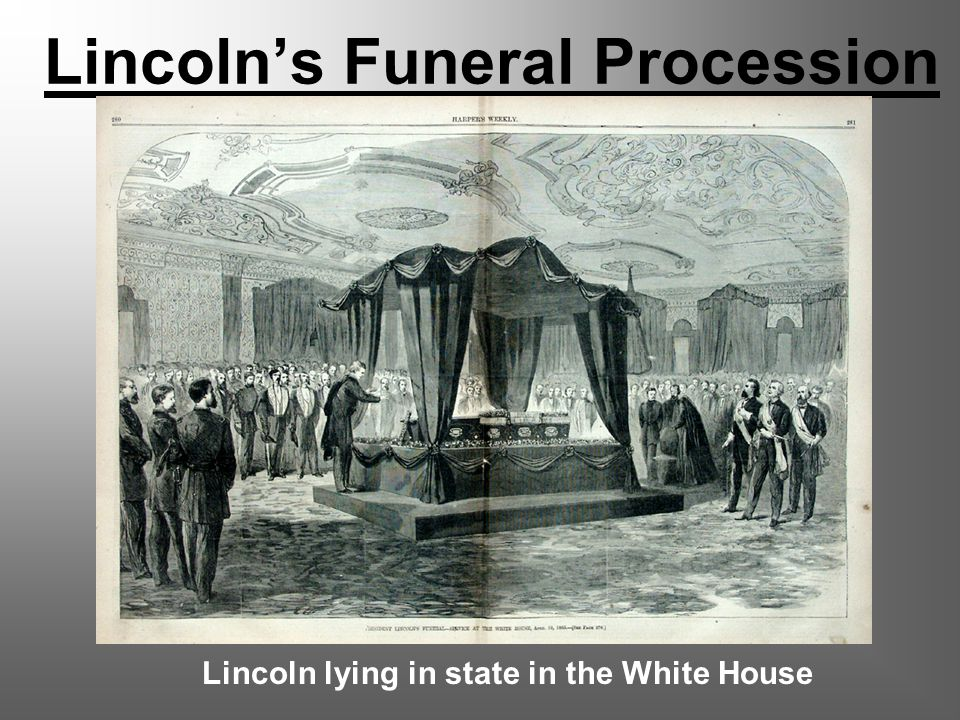Lincoln's Funeral Procession Lincoln lying in state in the White House