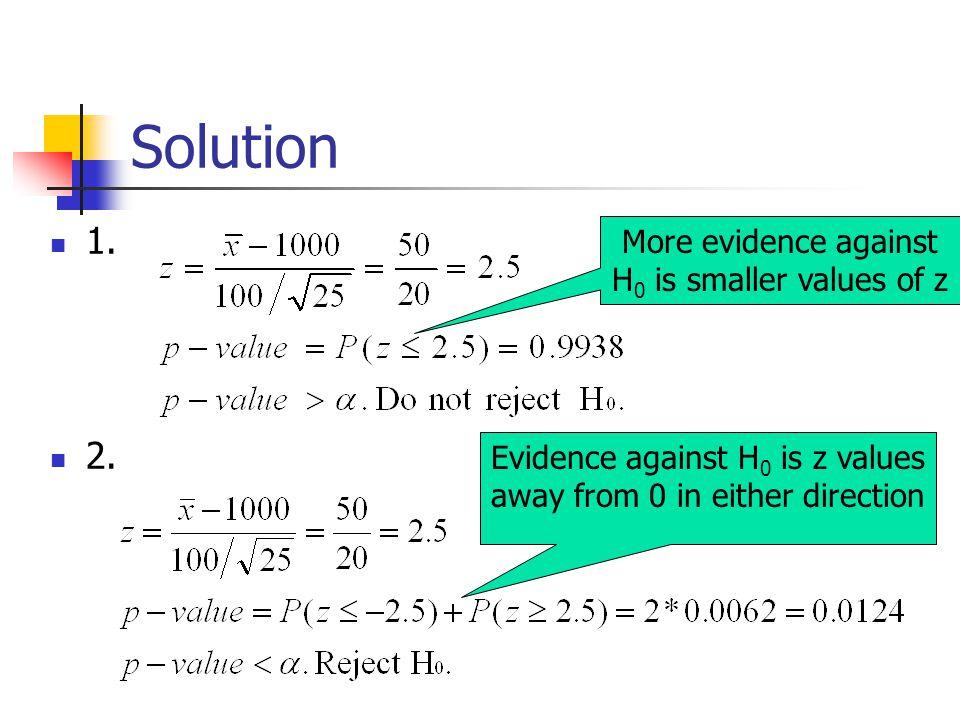 Solution 1. 2.