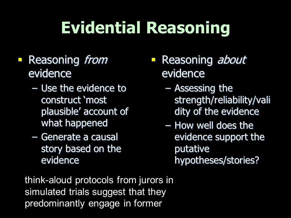 Possible line of juror reasoning.
