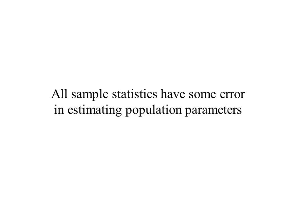 All sample statistics have some error in estimating population parameters