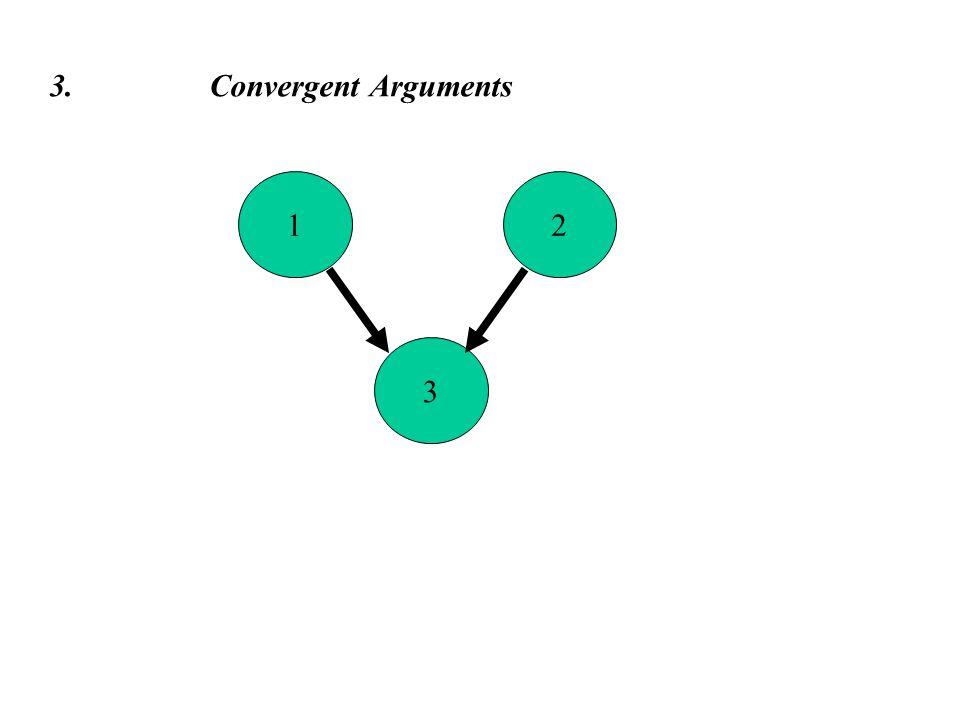 3 3. Convergent Arguments 12